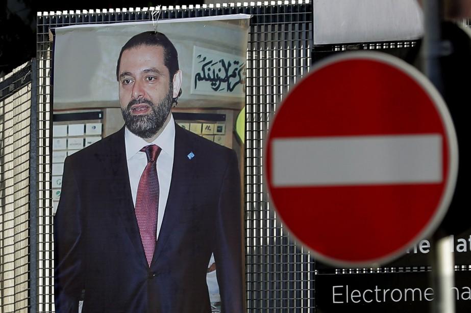 Une affiche de Saad Hariri à Beyrouth le... (AFP)