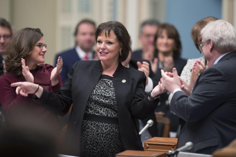 La ministre de la Santé publique, Lucie Charlebois.... (Photo Jacques Boissinot, PC)