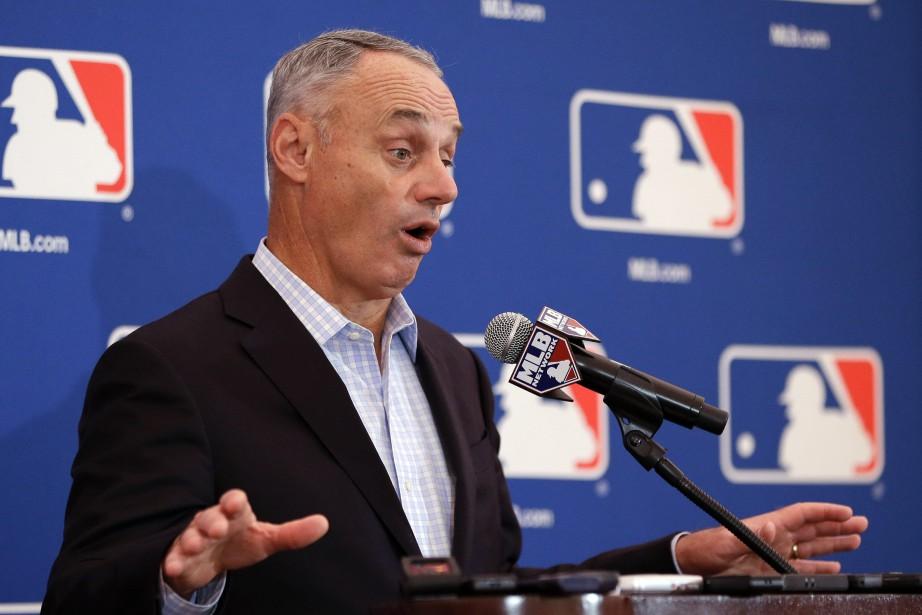 Le commissaire du Baseball majeur, Rob Manfred.... (Photo John Raoux, AP)