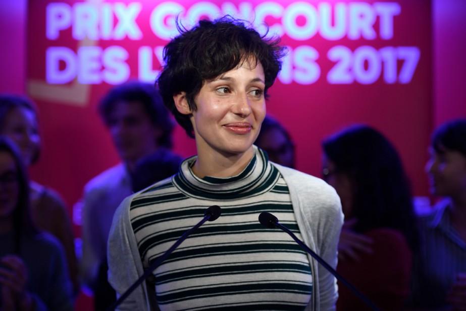 Alice Zeniter a remporté jeudi le Goncourt des... (Photo AFP)