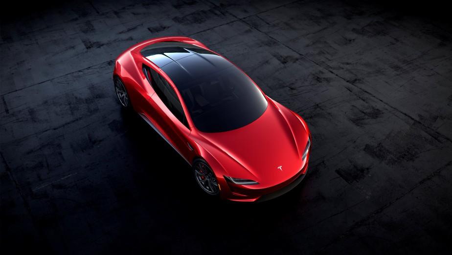 Le Roadster 2, tel que représenté dans cette photo générée par ordinateur par Tesla. | 17 novembre 2017