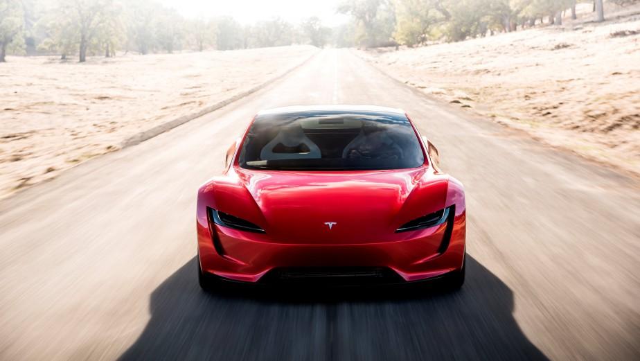 Le Roadster 2, tel que représenté dans cette photo générée par ordinateurpar Tesla | 17 novembre 2017