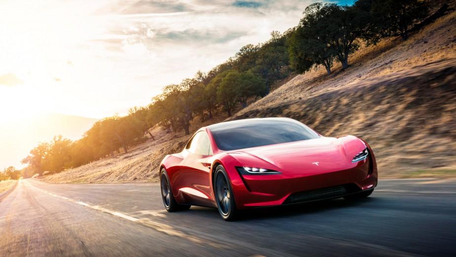 Le Roadster 2, tel que représenté dans cette photo générée par ordinateurpar Tesla (REUTERS)