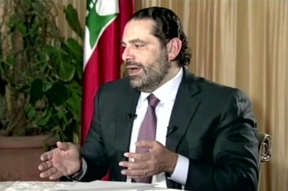 Le premier ministre libanais Saad Hariri... (PHOTO FUTURE TV/AP)
