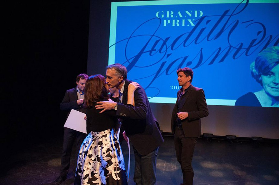 Les journalistes Philippe-Teisceira Lessard, Karim Benessaieh, Daniel Renaud... (PHOTO CATHERINE LEGAULT, COLLABORATION SPÉCIALE)
