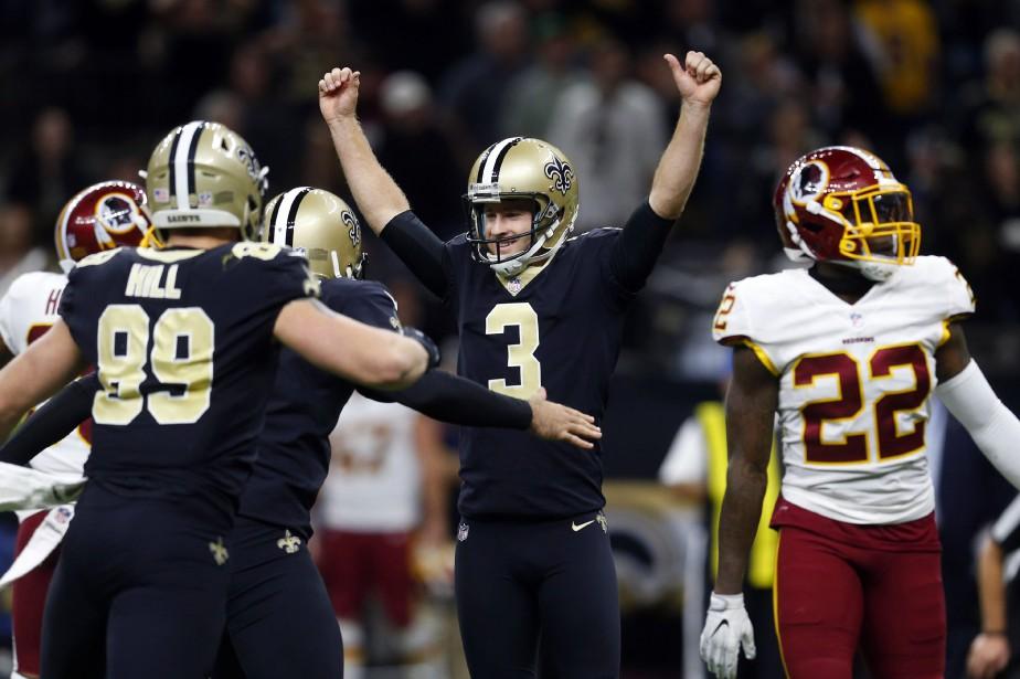 Les Saints de La Nouvelle-Orléans ont signé une huitième victoire... (PHOTO AP)