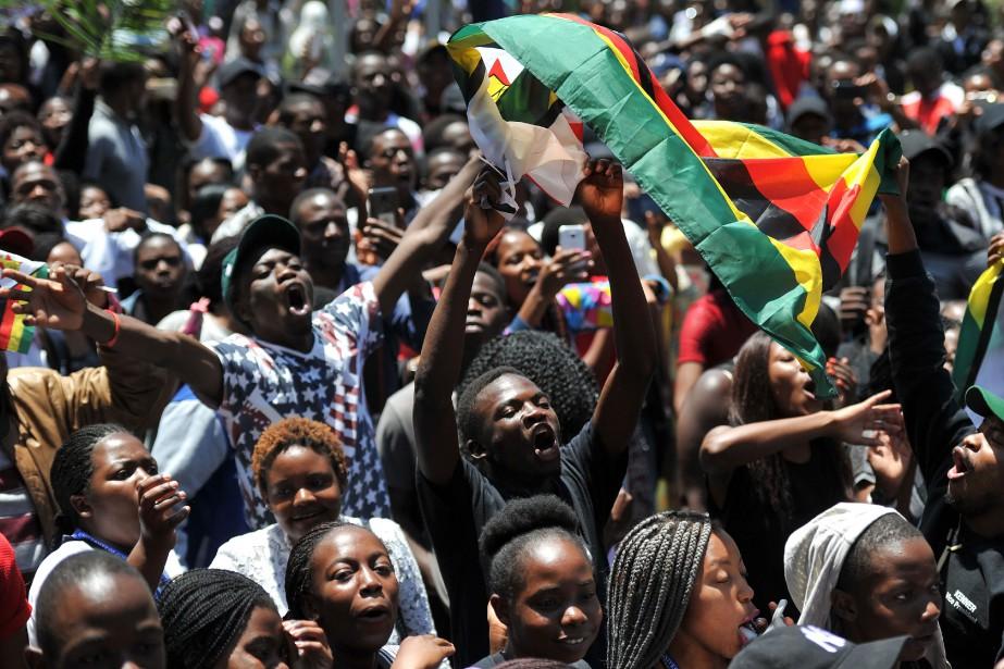 À l'Université du Zimbabwe, les étudiants ont manifesté... (AFP)
