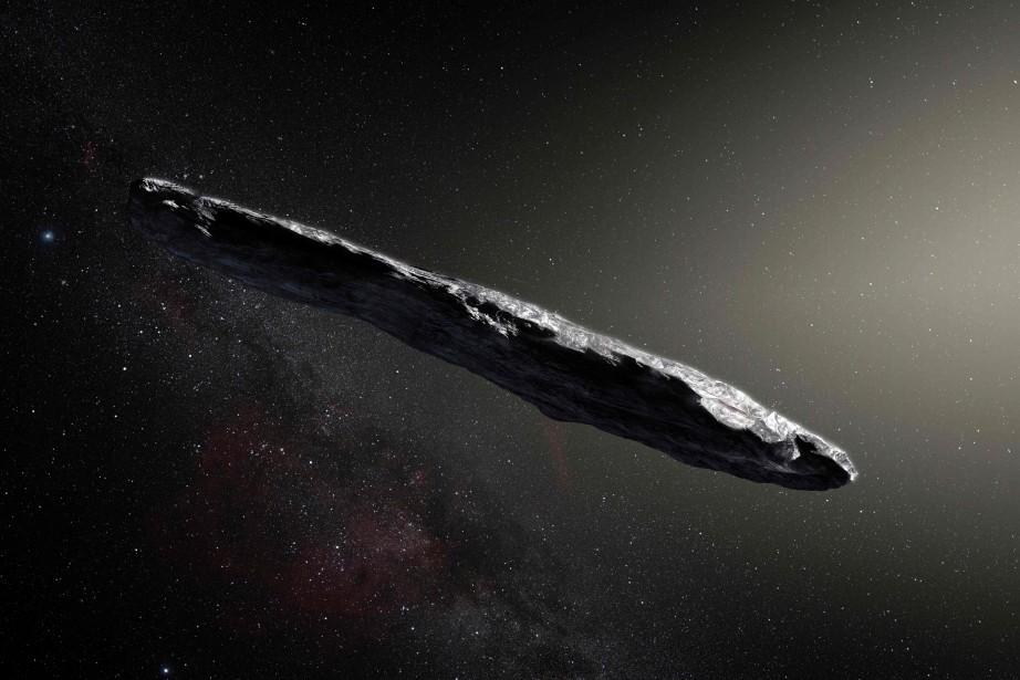 Oumuamua, qui signifie messager en langue hawaïenne, a... (ILLUSTRATION AFP)