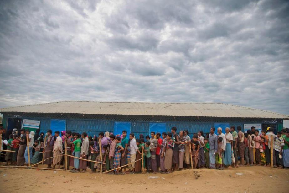 Camp de réfugiés rohingya, au Bangladesh... (Photo A.M. Ahad, Associated Press)