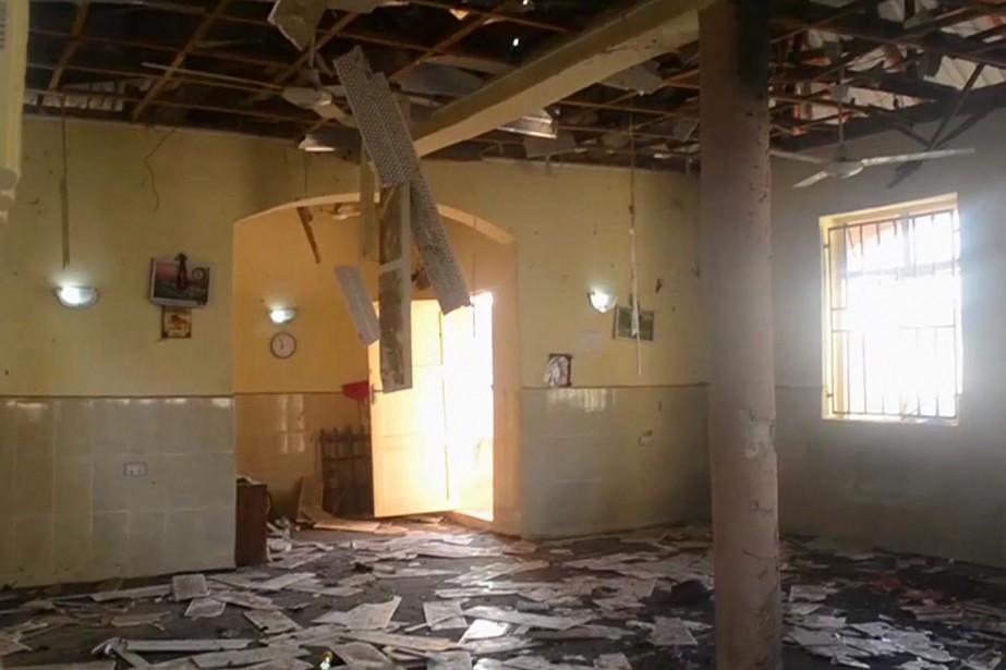 L'explosion s'est produite à la mosquée de Madina... (AP)