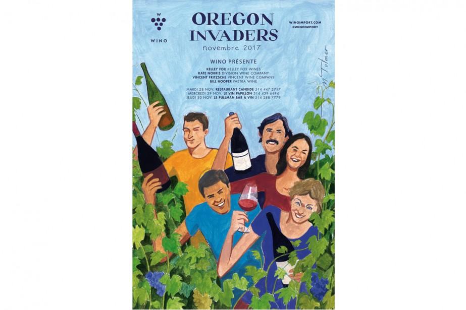 Les vignerons de l'Oregon débarquent à Montréal.... (Photo tirée de la page Facebook de Wino Import)