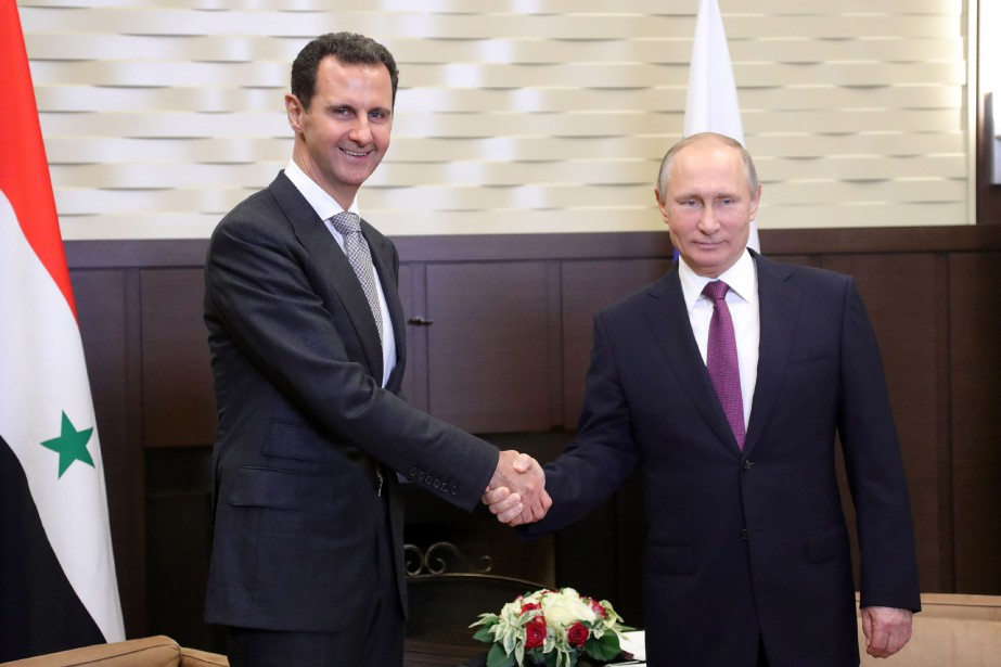 Vladimir Poutine a accueilli mardi son homologue syrien... (PHOTO AFP)