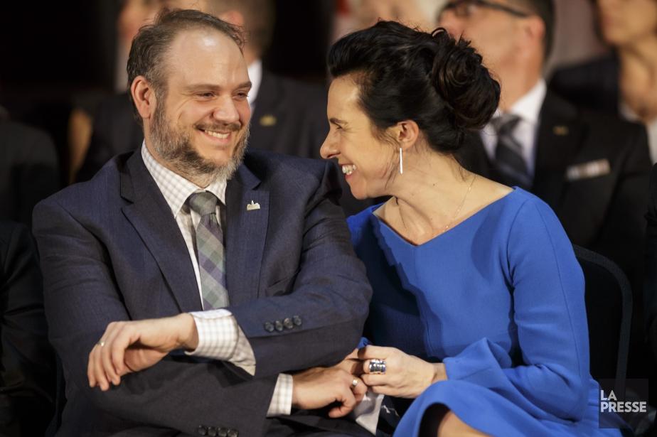 Benoit Dorais et Valérie Plante.... (Photo Olivier Jean, archives La Presse)