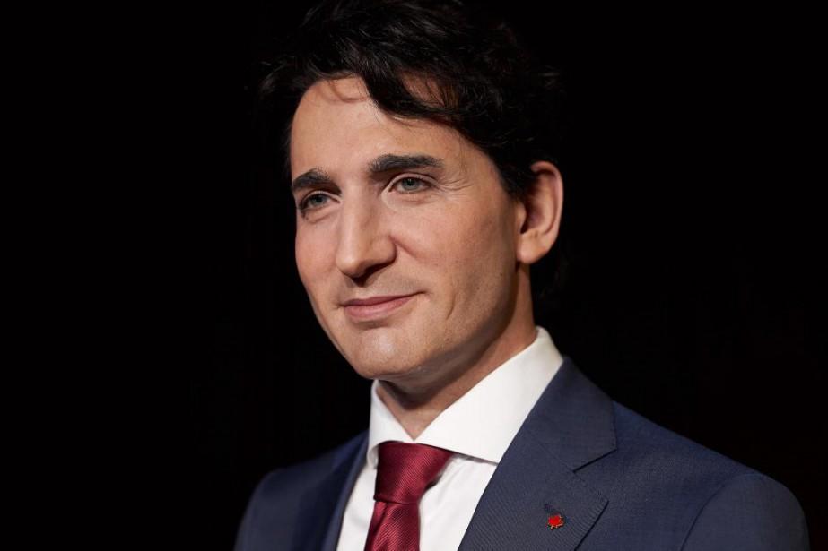 La statue de cire de Justin Trudeau a... (Photo André Pichette, La Presse)