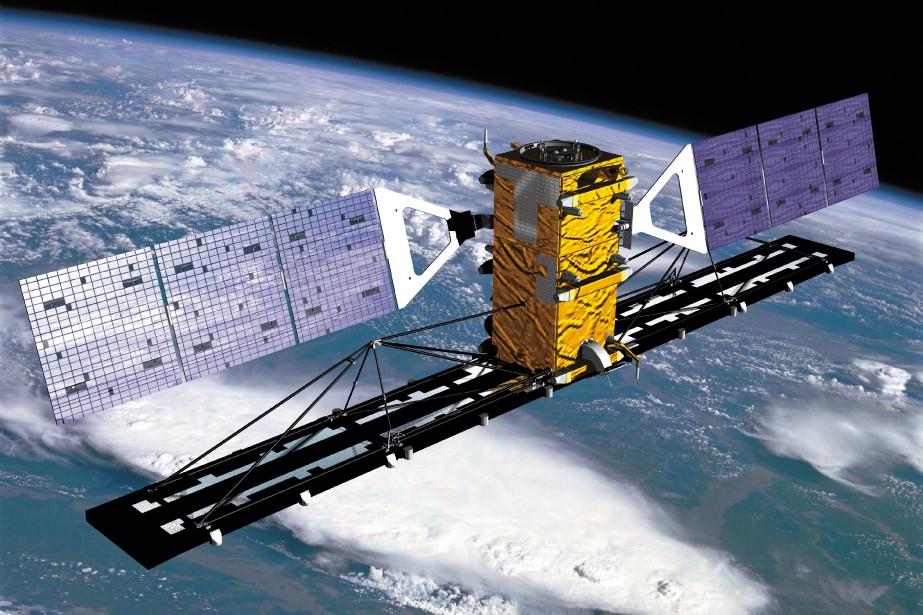 Les données captées par Radarsat-2 permettent de détecter les mouvements de sol potentiellement dangereux dans un site minier. (Agence spatiale canadienne)