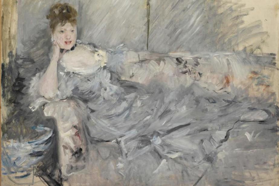 Berthe Morisot, Jeune femme en gris étendue, 1879.... (Photo fournie par le MNBAQ)