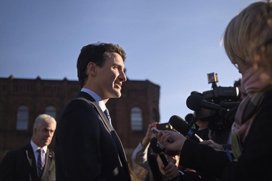 Le premier ministre Justin Trudeau... (Photo Nathan Rochford, PC)