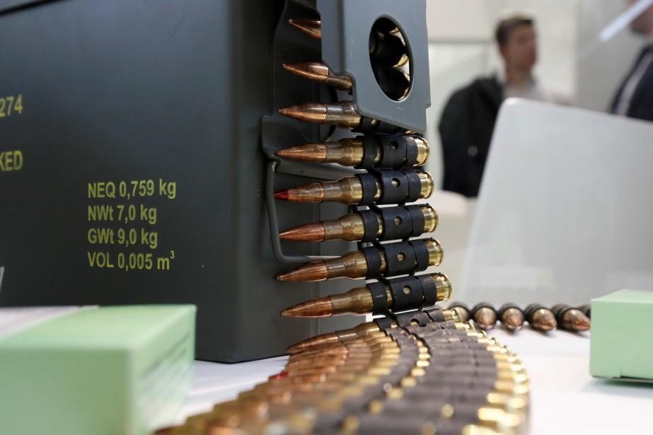 Balles traçantes de 7.62mm fabriquées par Sellier & Bellot. Ce calibre de munitions jadis réservé à l'armée fait désormais partie de l'arsenal policiers. | 24 novembre 2017