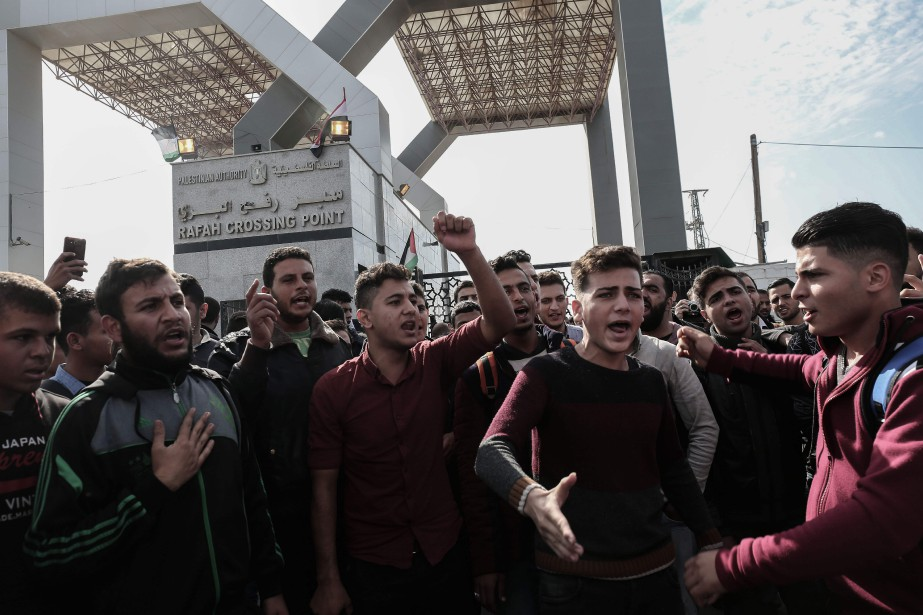 Le poste frontalier de Rafah était censé rouvrir... (Photo SAID KHATIB, AFP)