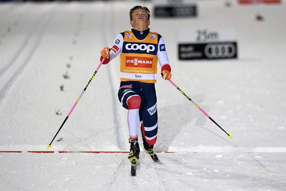 Johannes Hoesflot Klaebo... (PHOTO HEIKKI SAUKKOMAA, AFP/LEHTIKUVA)