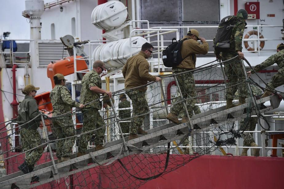 Depuis le port de Comodoro Rivadavia, un navire... (Photo Maxi Jonas, AP)
