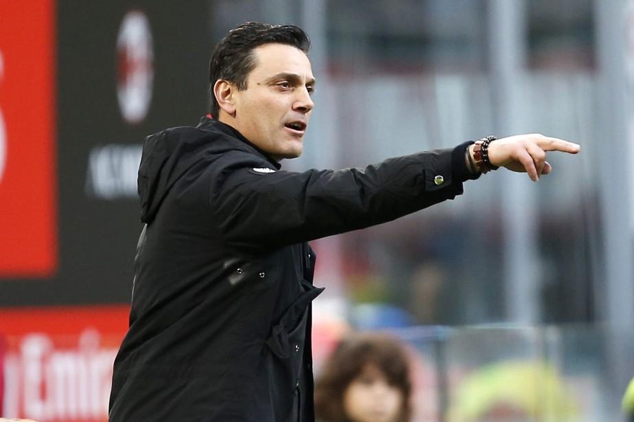 Vincenzo Montella était à la barre de l'AC... (Photo Antonio Calanni, archives AP)