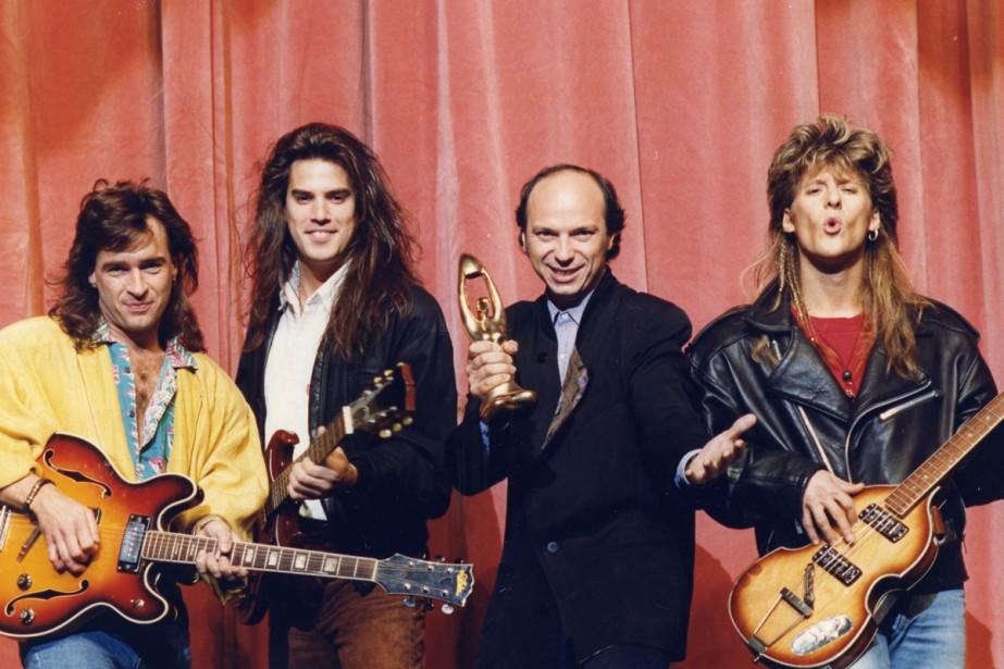 Michel Rivard (au centre) au Gala de l'ADISQ... (Photo Robert Nadon, archives La Presse)