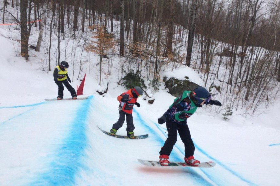 Le mont Sainte-Marie, en Outaouais, est l'une des... (Photo fournie par l'école de ski du mont Sainte-Marie)