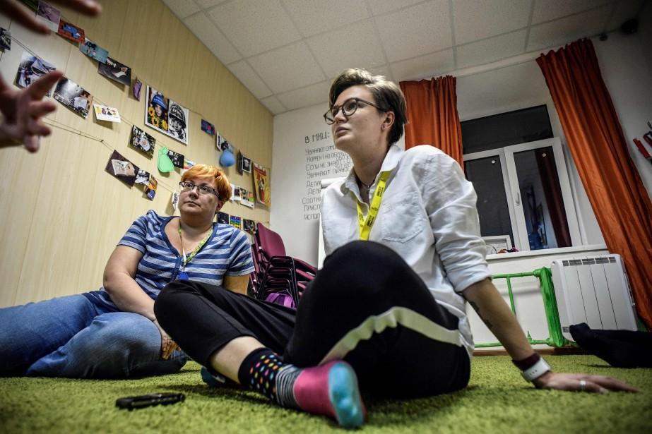 Le centre accueille «tous les LGBT qui souffrent»,... (Photo Alexander Nemenov, Agence France-Presse)