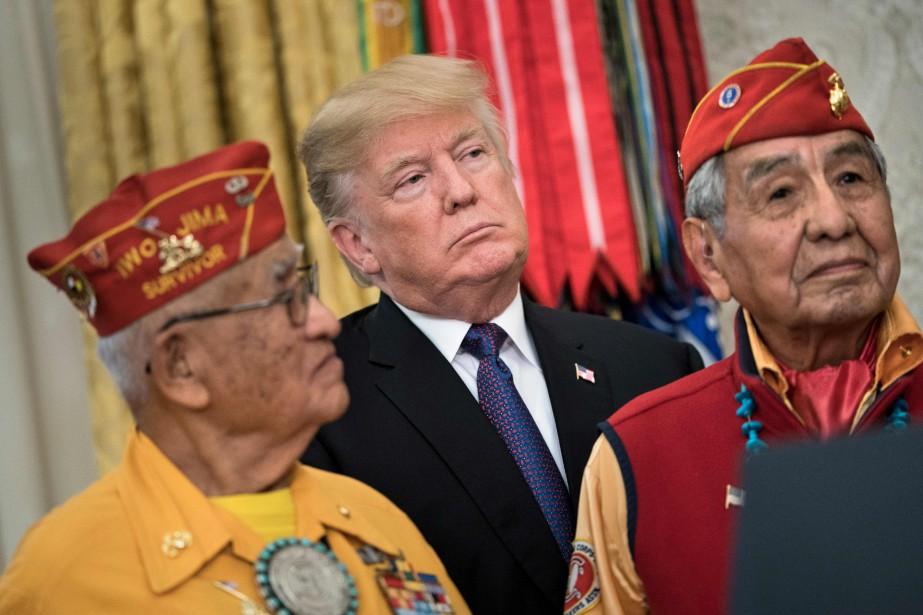 L'opération séduction de Donald Trump envers des combattants... (PHOTO AFP)