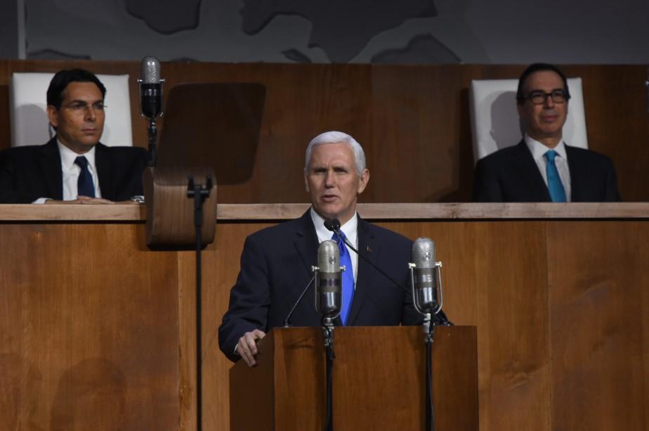 Mike Pence a prononcé un discours mardi à... (AFP)
