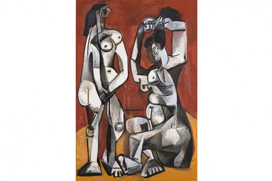 Femmes à la toilette, 1956, Pablo Picasso (1881-1973).... (Photo Mathieu Rabeau, fournie par le MBAM)