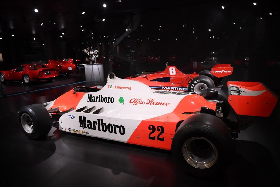 Alfa Romeo a quitté la F1 en 1988. Ci-haut, l'Alfa Romeo 182 pilotée par l'Italien Bruno Giacomelli en 1982. La voiture a été photographiée aujourd'hui au Musée historique Alfa Romeo d'Arese, près de Milan. | 29 novembre 2017