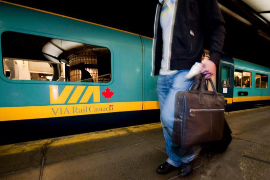 VIA Rail a lancé le projet de TGF... (PHOTO PETER McCABE, ARCHIVES LA PRESSE CANADIENNE)