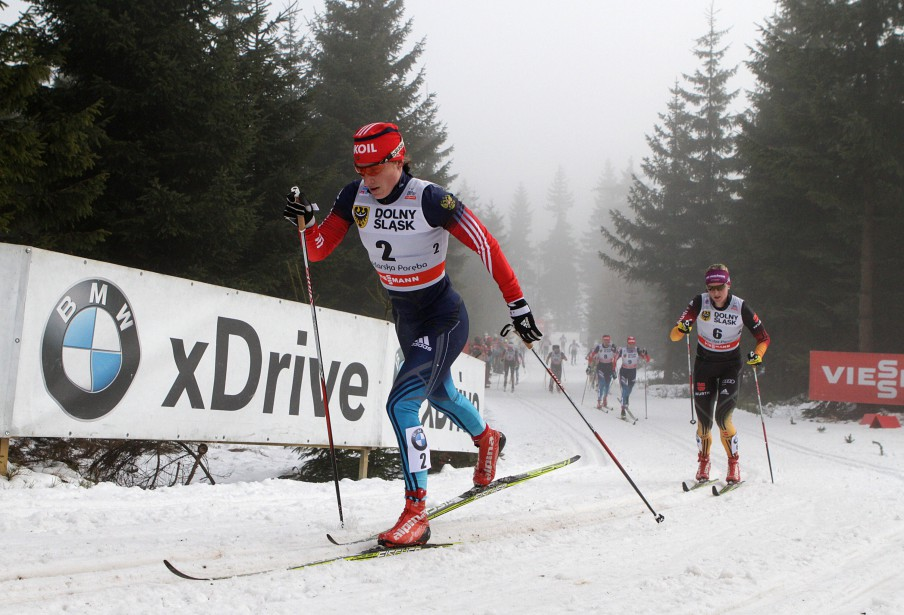 La fondeuse russe Yulia Chekaleva avait terminé 11e... (Photo BARTEK WRZESNIOWSKI, AFP)