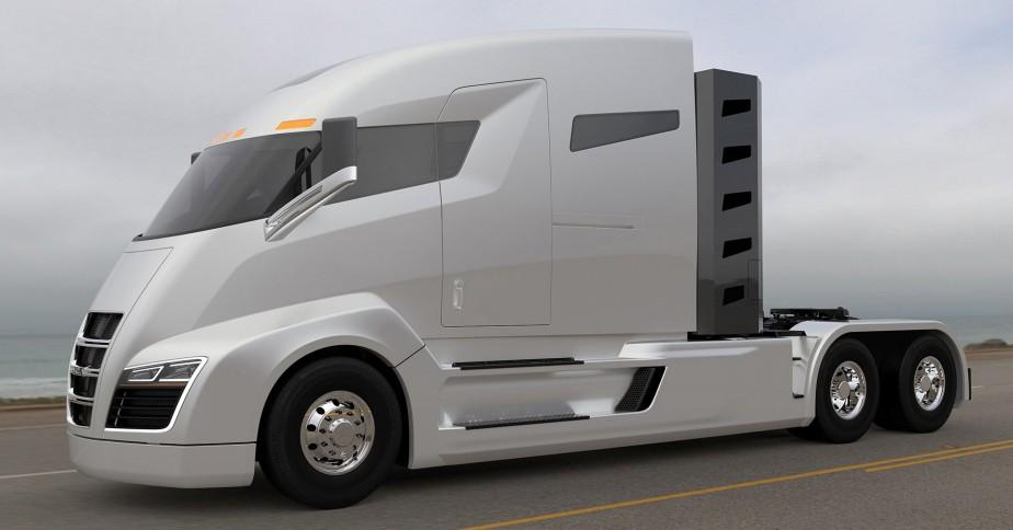 Inspirée par le prénom de Nikola Tesla, la société Nikola Motor s'est alliée à l'allemande Bosch afin de produire les Nikola One et Nikola Two, deux camions à hydrogène qu'elle espère mettre en marché en 2021. Crédit: Nikola Motor ()