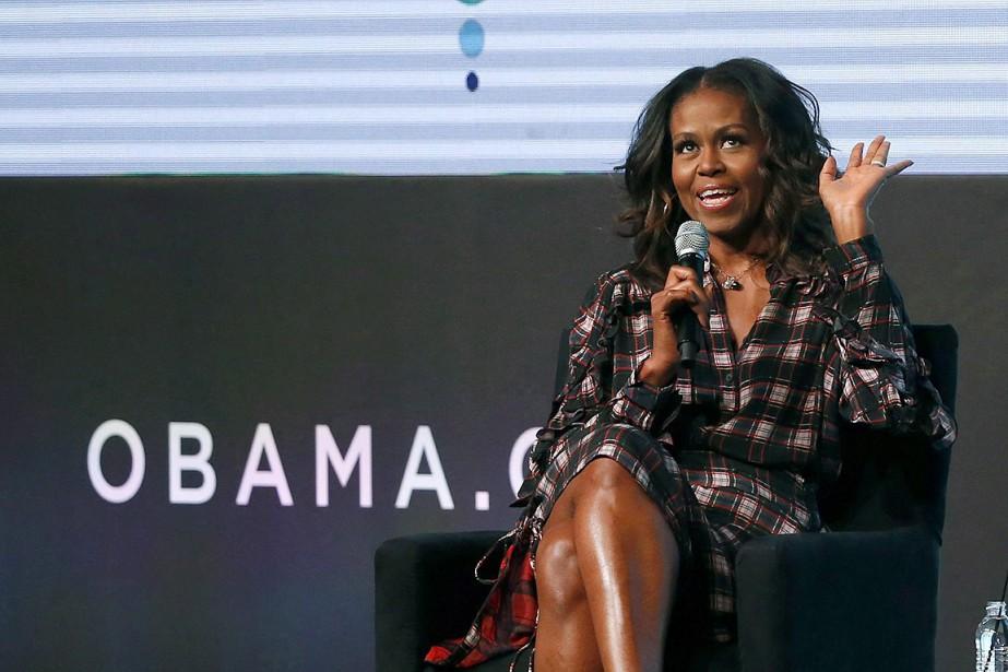 Michelle Obama, à Chicago, le 1er novembre dernier.... (Charles Rex Arbogast, archives AP)