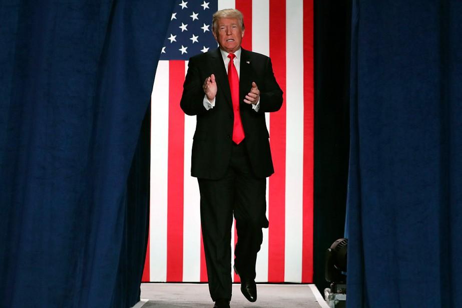 Donald Trump s'est rendu à St.Charles, au Missouri,... (PHOTO ANDREW HARNIK, ARCHIVES ASSOCIATED PRESS)
