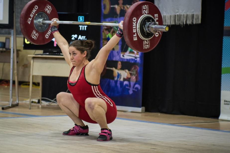 En action chez les 63 kg, Maude Charron... (Photo tirée de la page Facebook de l'athète)
