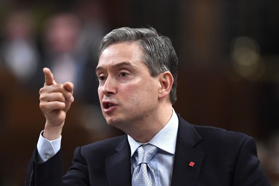 Le ministre du Commerce international, François-Philippe Champagne.... (Photo La Presse canadienne)