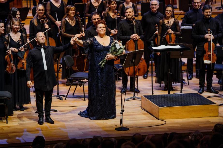 Lechef de l'Orchestre Métropolitain Yannick Nézet-Séguin et la... (Photo François Goupil, fournie par l'Orchestre Métropolitain)
