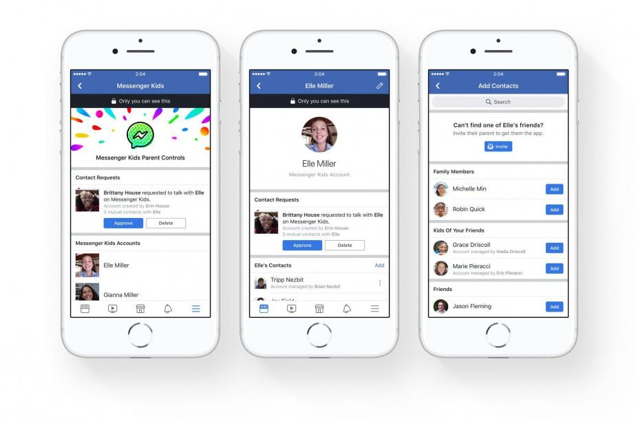 Messenger Kids est une application «de discussion vidéo... (Photo tirée de Twitter)