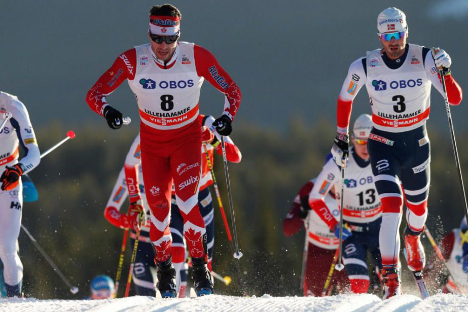 Alex Harvey (8) a terminé sixième du skiathlon... (PHOTO TERJE BENDIKSBY, NTB SCANPIX)