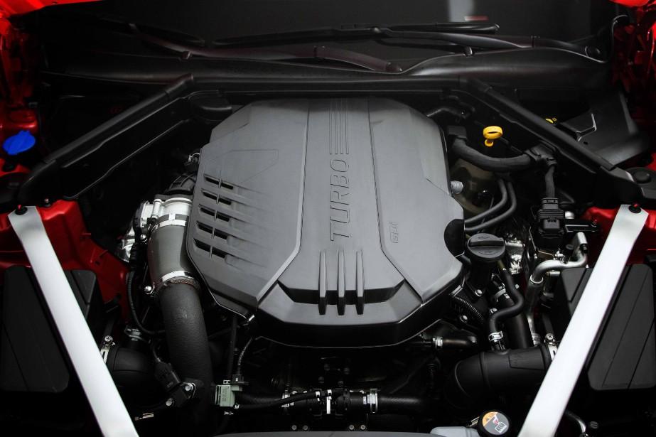 Le V6 turbocompressé (365 ch) et rouage intégral. Une version animée d'un quatre-cylindres suralimenté (255 ch), plus accessible financièrement, se greffera au catalogue canadien le printemps prochain. | 4 décembre 2017