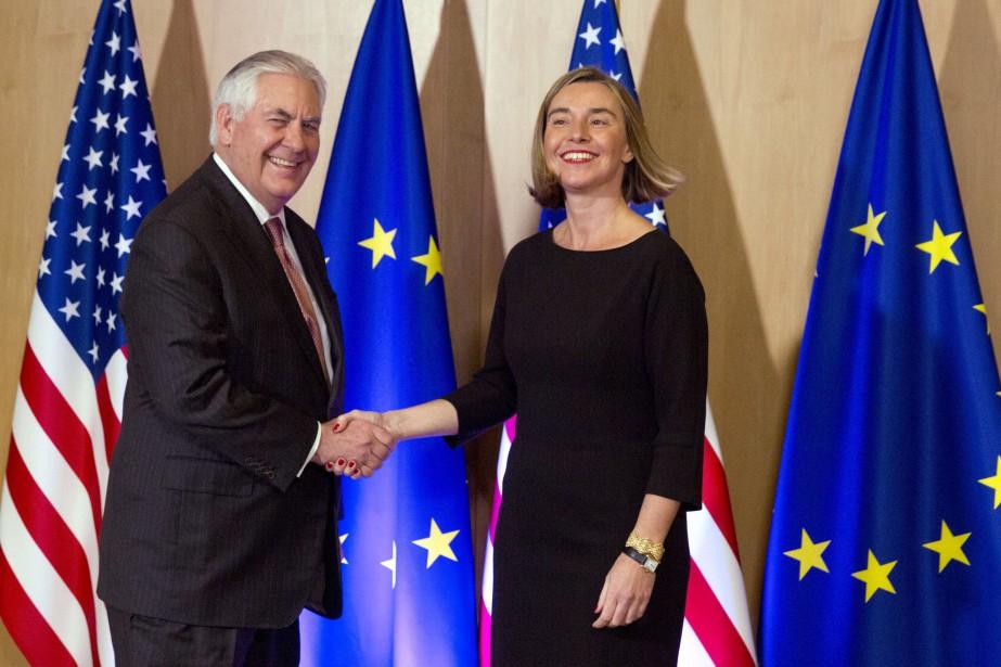 À la mi-journée, le chef de la diplomatie... (Photo AP)