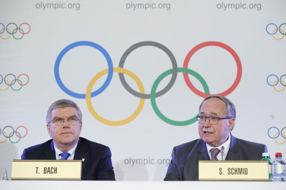 Le président du Comité international olympique, Thomas Bach,... (Photo Denis Balibouse, Reuters)
