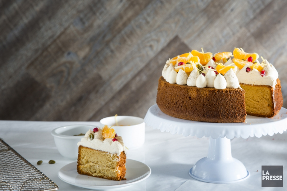 Le gâteau chiffon à la cassonade et à... (PHOTO MARCO CAMPANOZZI, LA PRESSE)