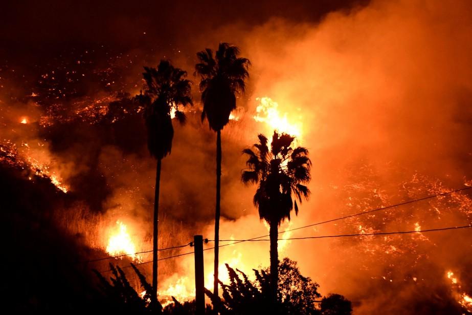 Comme chaque grand incendie californien, «Thomas» a apporté... (PHOTO REUTERS)