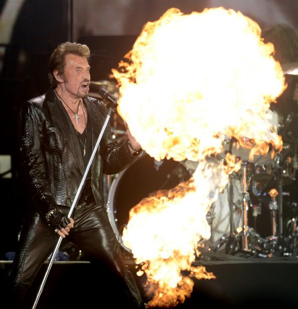 Johnny Hallyday lors d'un concert au Centre Bell en 2012. | 5 décembre 2017