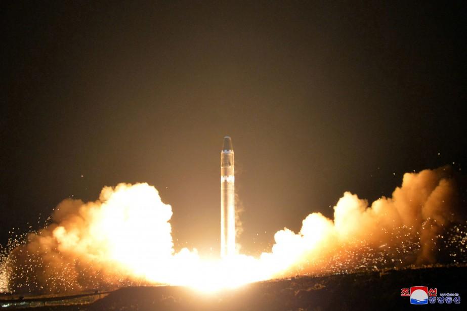 La Corée du Nord a tiré le 29novembre... (Photo archives AP)